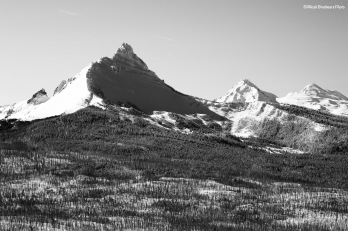 Three Fingered Jack from the chairlift at Hoodoo