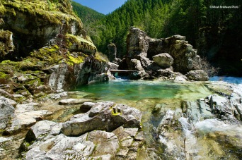 Three Pools Area in Opal Creek Wilderness